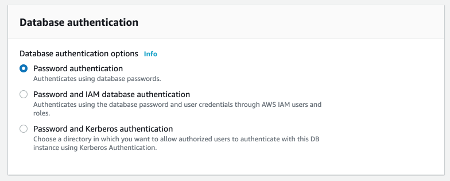 RDS Choose Authentication Method