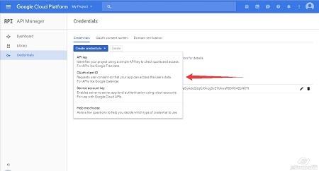 Google Cloud Platform - Create Client ID step1