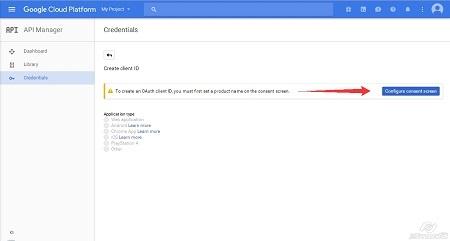 Google Cloud Platform - Create Client ID step2