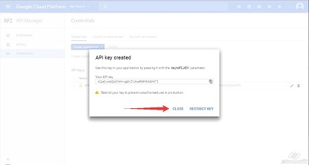 Google Cloud Platform - Create Credentials step2