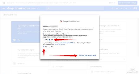 Google Cloud Platform - Create Project step1