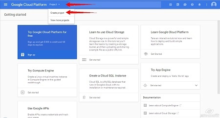 Google Cloud Platform - Create Project step2