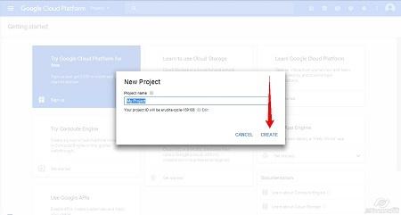 Google Cloud Platform - Create Project step3