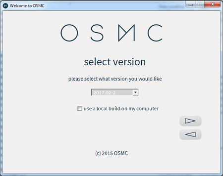 OSMC Installation Select Version
