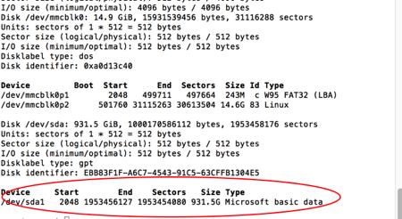 Raspberry Disk Info