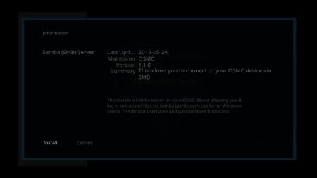 OSMC Samba Installation - Step 4