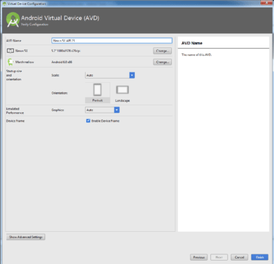 Android Studio AVD
