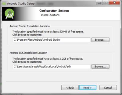 Android Studio Configuration Settings