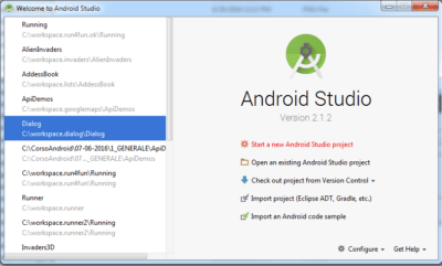 androidstudiostartnewproject