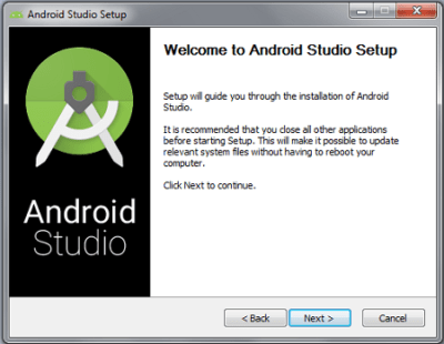 Android Studio Welcome Panel