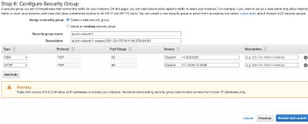 Amazon EC2 Configure Security Group