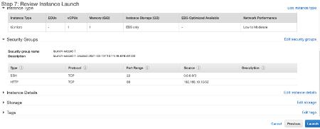 Amazon EC2 Review Instance Launch