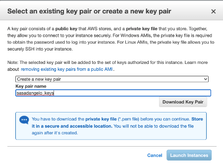 Amazon EC2 Create Key Pairs