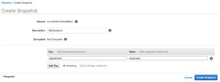 Configure EBS Snapshot