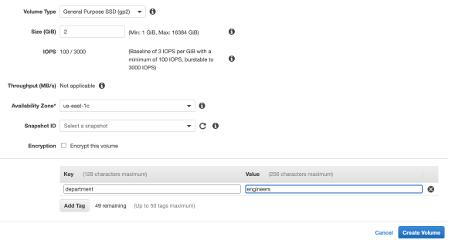 Amazon EBS Configure Volume