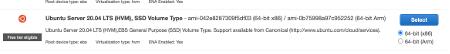 Amazon EC2 Select Operating System