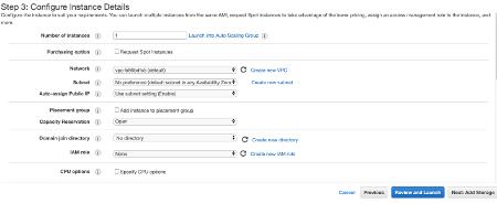 Amazon EC2 Configure Instance