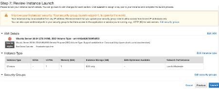 Amazon EC2 Review Instance