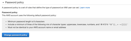 Change Password Policy