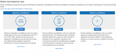 ELB Select Application Load Balancer